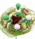 bouquet bonbons vert printemps