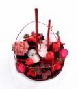 centre de table bonbons rose
