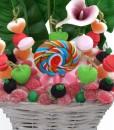corbeille centre bouquet bonbons