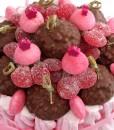 gateau bonbons rose herissons chocolat