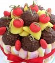 gateau bonbons rouge hérisson