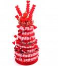 gateau de bonbons mariage coeur